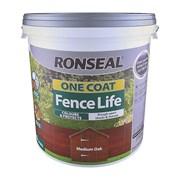 Ronseal One Coat Fence Life Medium Oak 9lt (38295)