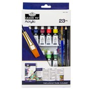 Royal Brush Learn To Set Acrylic Painting 23pce (RSET-LT254)