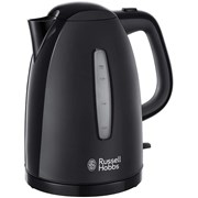 Russell Hobbs Textures 3kw Black Kettle 1.7l (21271)