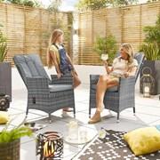 Ruxley Dining Chairs - Pair - Grey