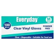 Everyday Clear Vinyl Gloves Powder Free Medium 100s (RY05059)
