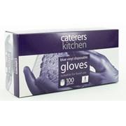 Caterers Kitchen Ck Vinyl Gloves Blue Large 100s (10182)