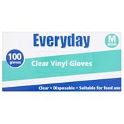 Everyday Clear Vinyl Powdered Gloves 100's Med (10363)