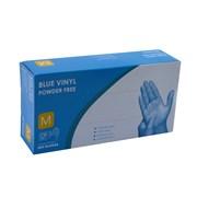 Blue Vinyl Gloves Powder Free 100's Med (10709)