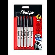 Sharpie Permanent Marker Fine Black 5s (1986051)