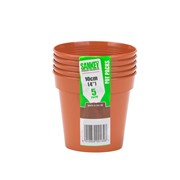 Sankey Pot Pack Terracotta 5s 10cm (GN023)