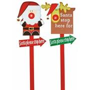 Santa Stop Here Sign Stake (AC101553)