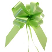 """Sateen Pull Bows Lime Green 2"""" (PB5885)"""