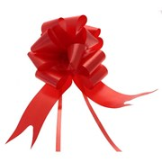 """Sateen Pull Bows Red 2"""" (PB5882)"""