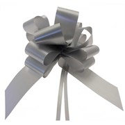 """Sateen Pull Bows Silver 2"""" (PB5879)"""