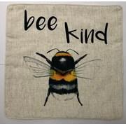 Bee Kind Emb Words On Faux Linen Cushion 45cm (SC-BEEKIND)