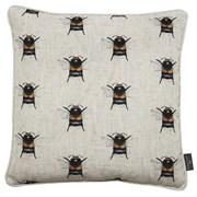 Printed Mini Bees Faux Linen Sky View Cushion 43cm (SC-BUMBLE)