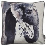 Printed Elephant Velvet Cushion 45cm (SC-GILES)
