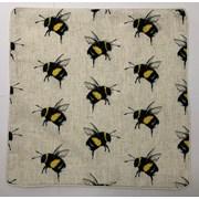 Printed Mini Bees On Faux Linen Cushion 45cm (SC-HIVE)