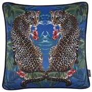 Printed Twin Leopards Velvet Cushion 45cm (SC-MALEK)