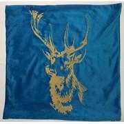 Embroidery Stags On Velvet Cushion 45cm (SC-PATRONUS)