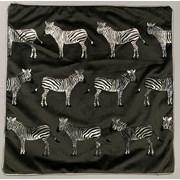 Silver/black Mini Zebras Cushion 45cm (SC-ZEBRA-TRAIL)