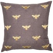 Emb Bees On Faux Linen Cushion 43cm (SCFP-ABEJA)