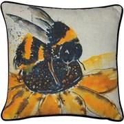 Bee On A Sunflower Print Cushion 45cm (SCFP-BERTY)