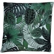 Leaves Print On Faux Linen Green Cushion 45cm (SCFP-ELENA GREEN)