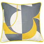 Geo Lge Abstract Print Cushion 45cm (SCFP-SASHIKA-MUSTARD)