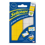 Sellotape Hook and Loop Pads 24s (1445176)