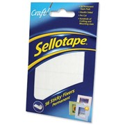 Sellotape Sticky Fixers 12mm x 25mm Pads 56s (1445423)