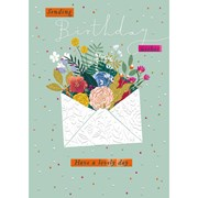 Sending Wishes B/day Card (IJ0080W)