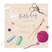 Sew Very Special B/day Card (II1119W)
