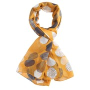 Miss Sparrow Sketched Spots Scarf Yellow (SF032YELLOW)