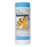 Sharples Petkin Jumbo Eye Wipes 80pk (537861)