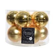 Glass Baublesx10 Light Gold 60mm (140126)