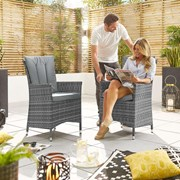 Sienna Dining Chairs - Pair - Grey