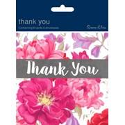 Simon Elvin Contemporary Open Thank You Card 6's (DP-209)