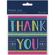 Simon Elvin Thank You Card Foil 6's (DP278)