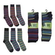 Mens 3 Pack Design Sock (SK143)