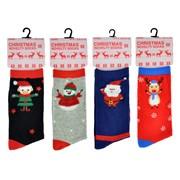 Ladies Cotton Rich Christmas Socks (SK254)