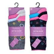 Rjm Ladies 3pk Cotton Blend Socks (SK514)