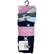 rjm Ladies 3pk Light Elasticed Top Socks Size4-7 (SK567)