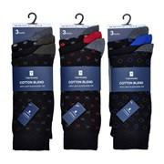 Mens 3 Pack Design Socks (SK626)