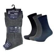 rjm Mens 3 Pack Diabetic Socks (SK632)