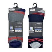 rjm Mens Trekking Socks With Contrast Heel (SK636)
