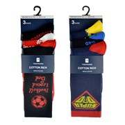rjm Mens 3pk Dad Socks (SK639)