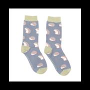 Miss Sparrow Cute Hedgehogs Socks Blue (SKS188BLUE)