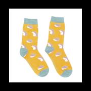 Miss Sparrow Cute Hedgehogs Socks Yellow (SKS188YELLOW)
