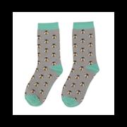 Miss Sparrow Honey Bees Socks Grey (SKS198GREY)
