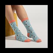 Miss Sparrow Storks Socks Light Turquoise (SKS212LIGHTTURQUOISE)