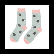 Miss Sparrow Sleepy Hedgehog Socks Duck Egg (SKS236DUCKEGG)
