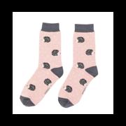 Miss Sparrow Sleepy Hedgehog Socks Dusky Pink (SKS236DUSTYPINK)