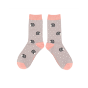 Miss Sparrow Sleepy Hedgehog Socks Grey (SKS236GREY)